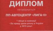 Дипломы Автоцентра ЛИГА - ІІ (3/27)