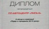 Дипломы Автоцентра ЛИГА - ІІ (10/27)